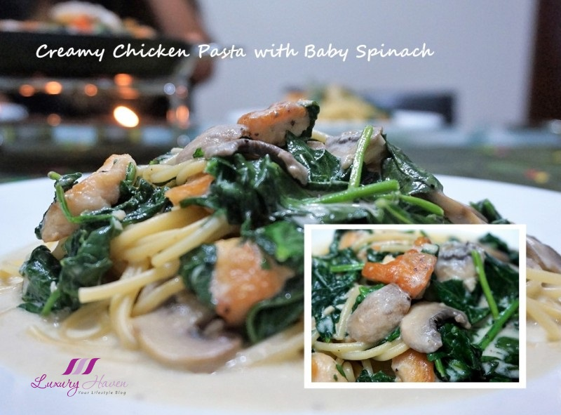 emborg recipes creamy chicken pasta with baby spinach