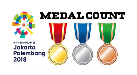 LIST: Medal Count Asian Games 2018 Indonesia