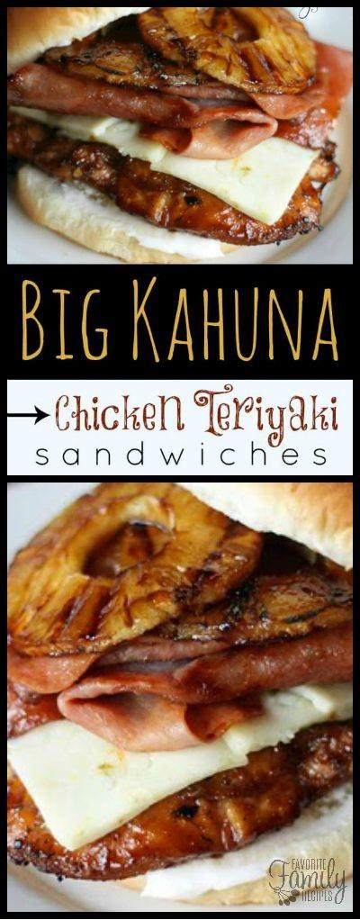 Big Kahuna Teriyaki Chicken Sandwiches