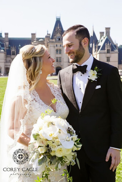 Bride and Groom at Biltmore House |Corey Cagle Photography