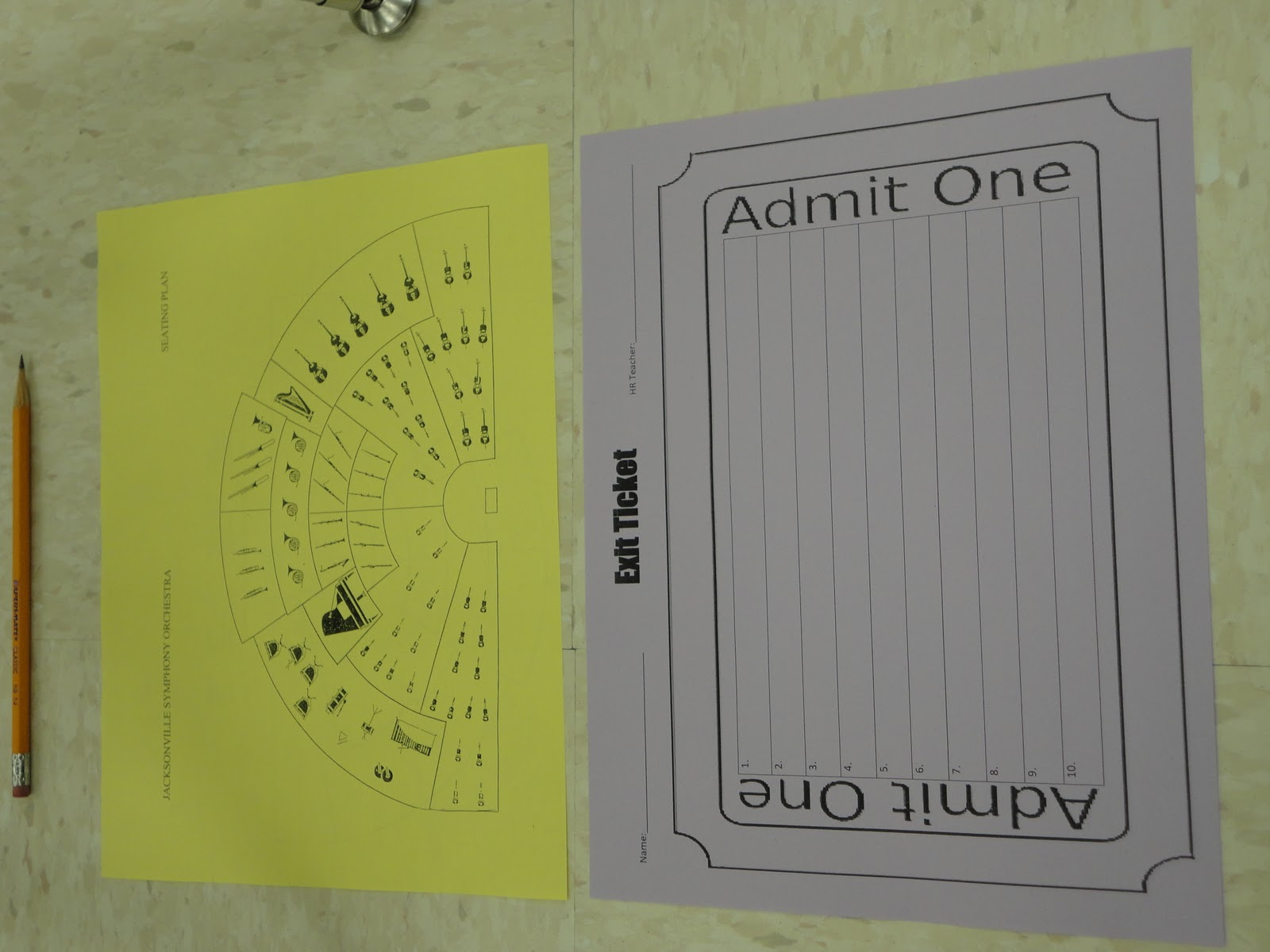 Music Matters: Exit Tickets