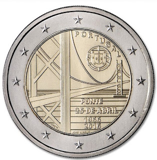 2€ commémorative du portuagl 2016 - 2€ Pont du 25 Avril 1966-2016