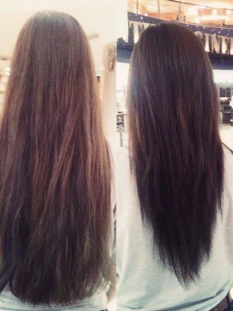 Fotos de corte de pelo en v