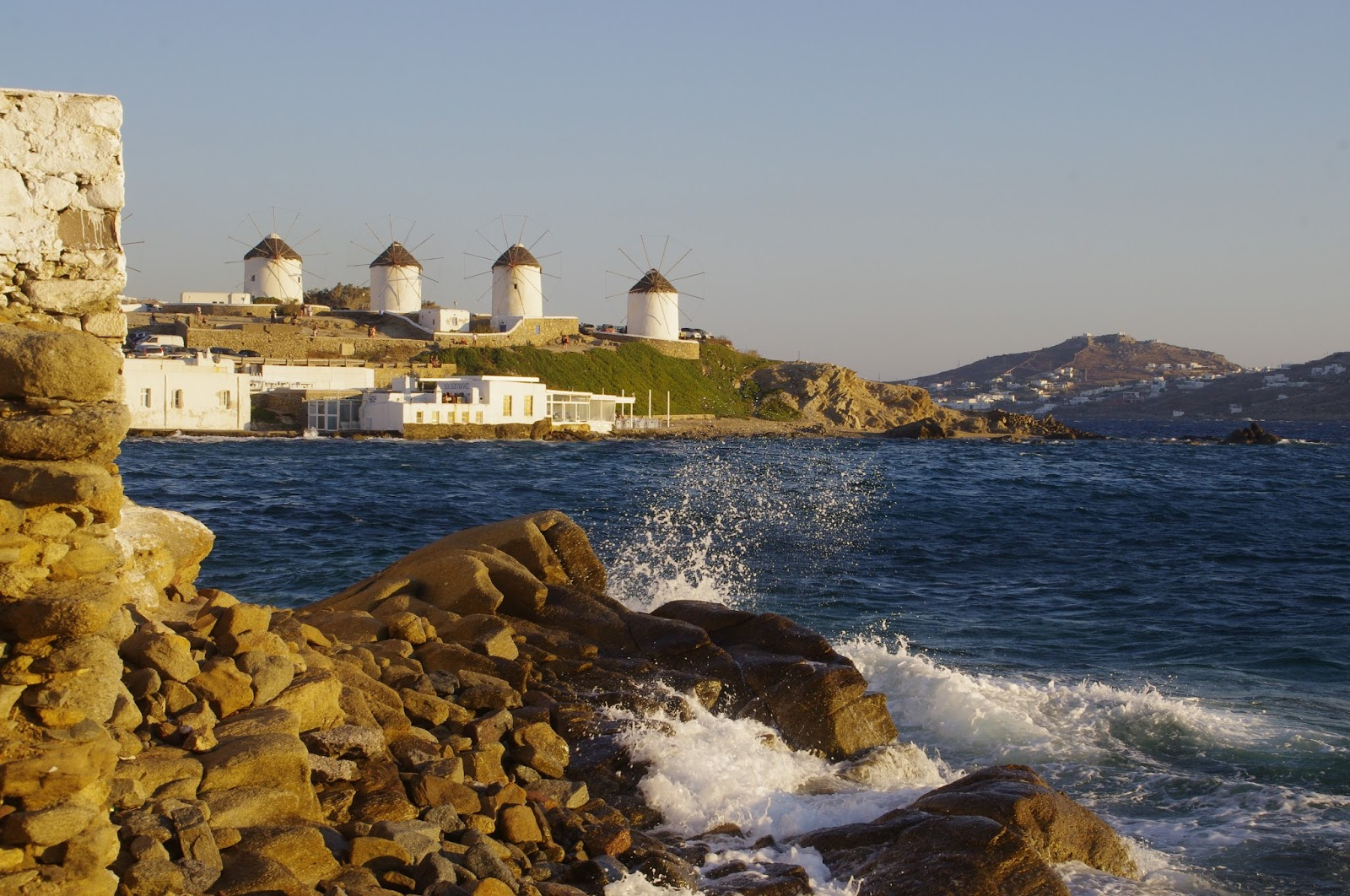 Mykonos Iconic Windmills from viewpoint
