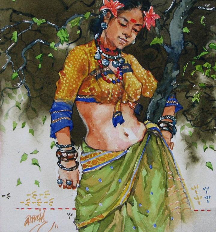 Ramchandra Kharatmal. Художник из Индии 15