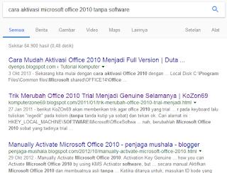 Cara aktivasi microsoft office 2010 tanpa software