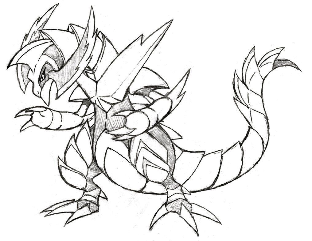 Mega Haxorus Pokemon Coloring Page - Free Printable ...