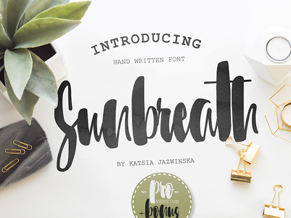 Download Sunbreath Script Brush Font Free