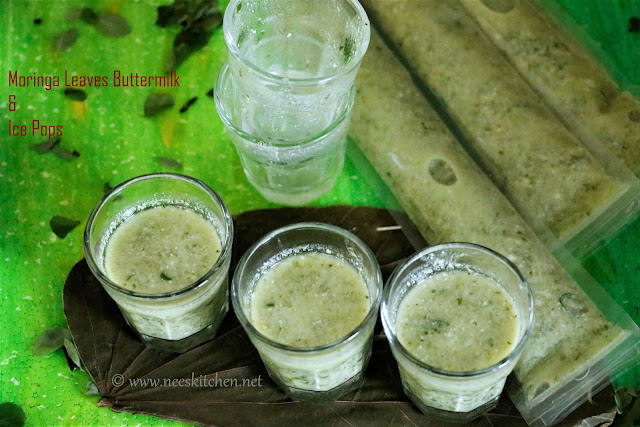 Murungakeerai Neer Mor & Ice Pops | Moringa Leaves Buttermilk & IcePops