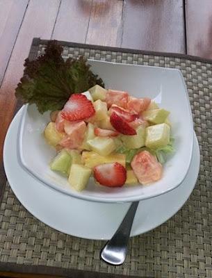 exotic fruit salad - atmosphere resort cafe bandung