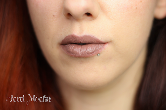 gerard cosmetics hydra matte liquid lisptick iced mocha review swatches lip
