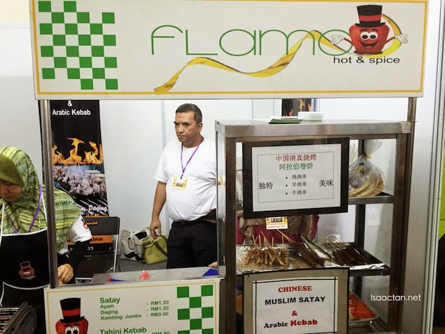 Serving chinese muslim satay and arabic kebab