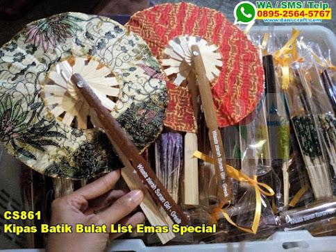 Jual Kipas Batik Bulat List Emas Special