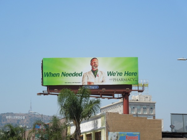 AHF Pharmacy green billboard