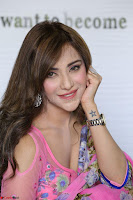 Actress Angela Krislinzki in Pink Saree Blouse Exclusive Pics March 2017 ~  006.JPG