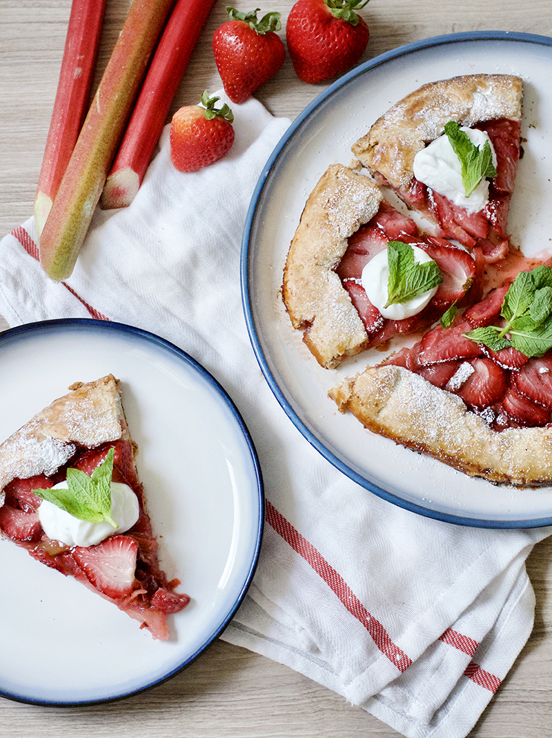 Strawberry Rhubarb Galette | Obsessive Cooking Disorder