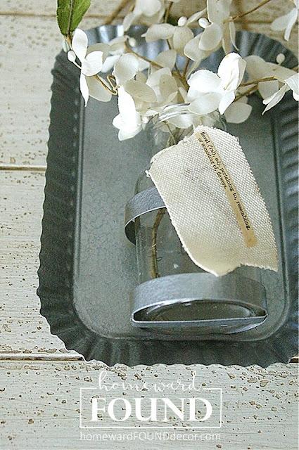 galvanized, paint treatments, krylon spray paint, hammered finish paint, painting, decor makeover, farmhouse, rustic, industrial, home decor, flower vase