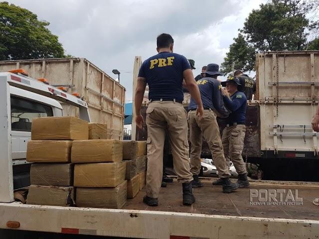PRF apreende mais de 7 toneladas de maconha no Paraná