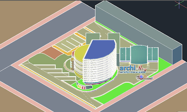 Bank agency with autobank 3D in AutoCAD