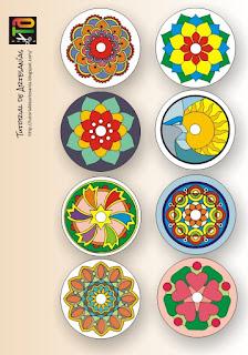 Ejemplo de Mandalas pintados - Tutorial de Artesanias