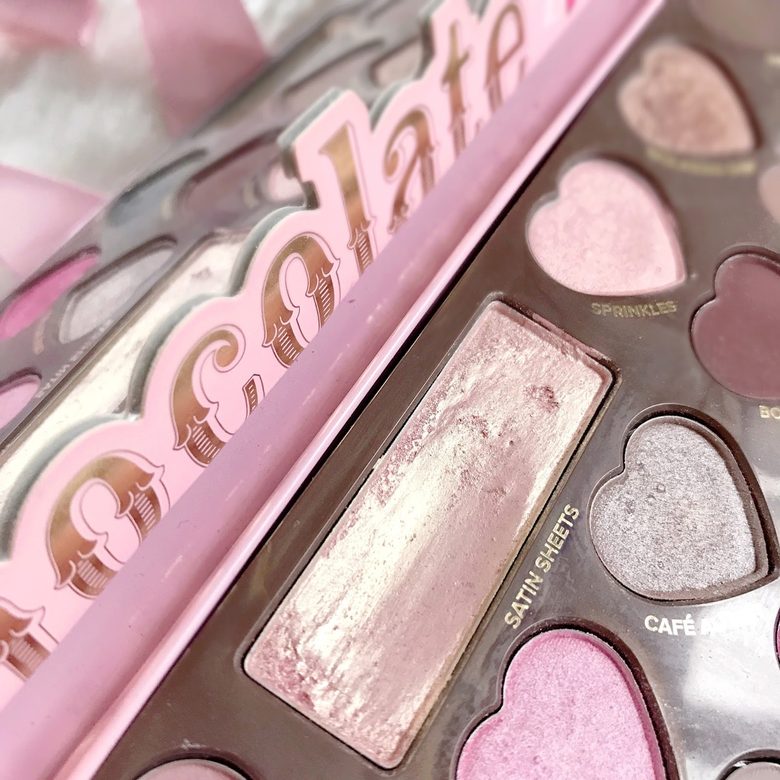 Four Champagne Pinks To Try | Too Faced Chocolate Bon Bons Satin Sheets