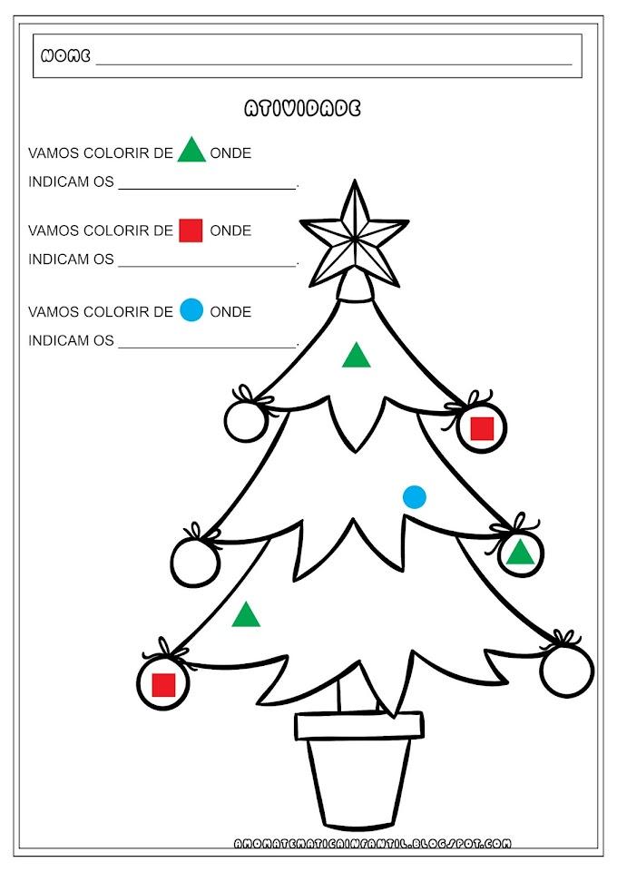 Pintura Legendada Natal com Formas Geométricas
