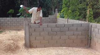 dinding batako, bataco, bata press, dinding bangunan, pembangunan dinding
