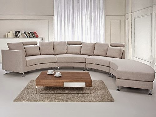 Modern Curved Sofa For Sales: Leather Curved Sofa