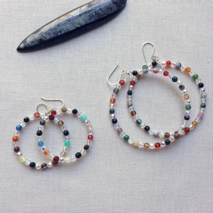 Lisa Yang S Jewelry Blog How To Make Beaded Memory Wire Hoop Earrings Free Tutorial