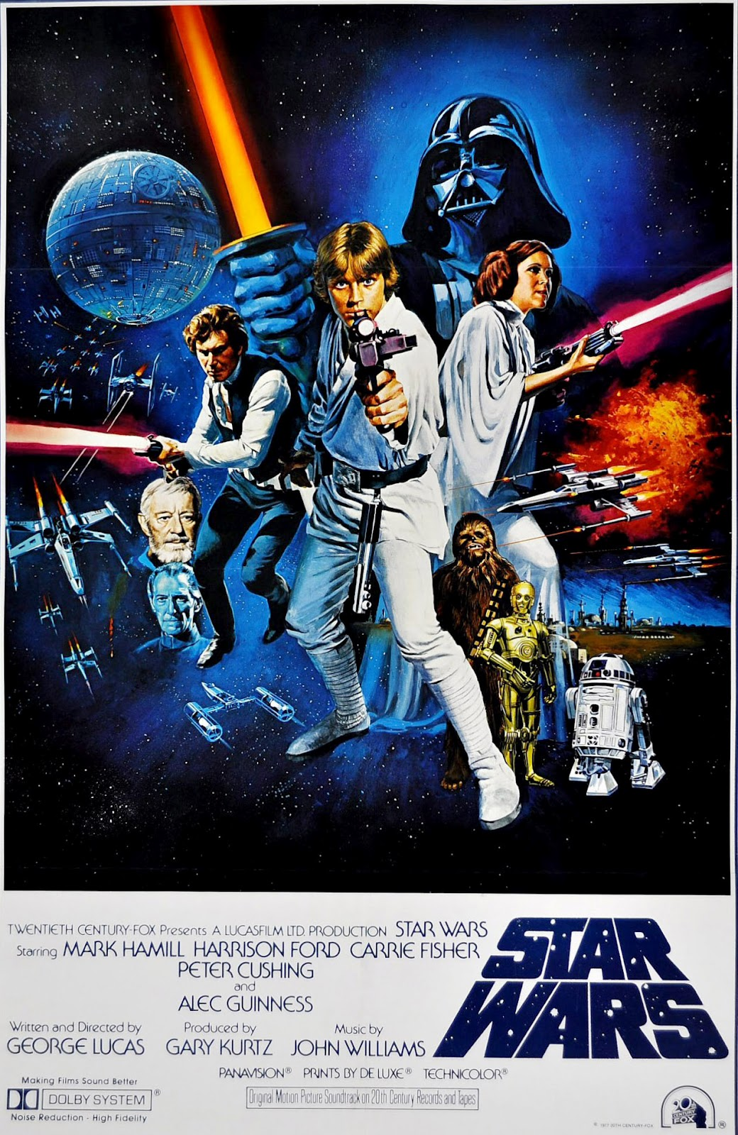 The Geeky Nerfherder: Movie Poster Art: Star Wars (1977)
