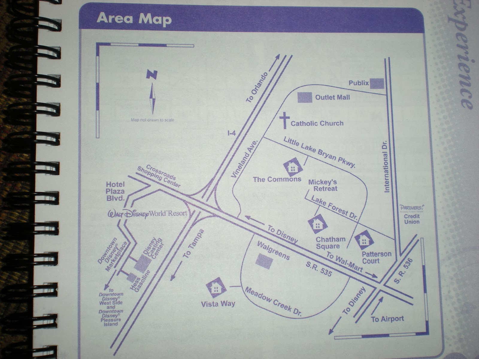 Disney College Program Housing Area Map