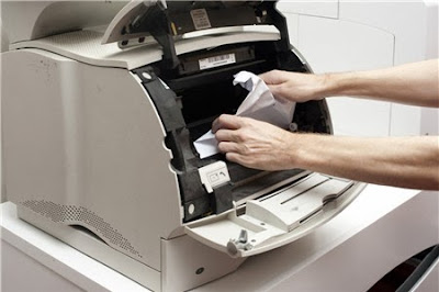 máy in bị kẹt giấy
