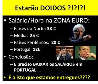 salários  queda Portugal crise