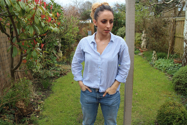 tienne jewellery, pretty jewellery, outfit inspiration, street style, fashion blogger, new look, h&m, how to style a stripped shirt, ootd