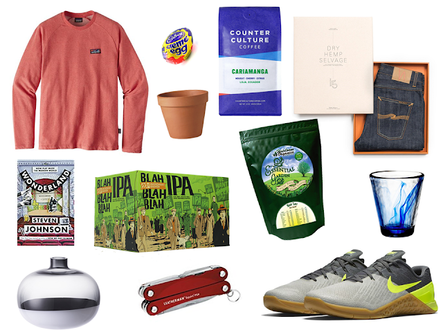 Spring selections for shopping, exercising, and gardening