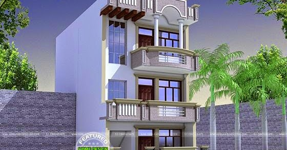 22x60 house plan - Kerala home design and floor plans