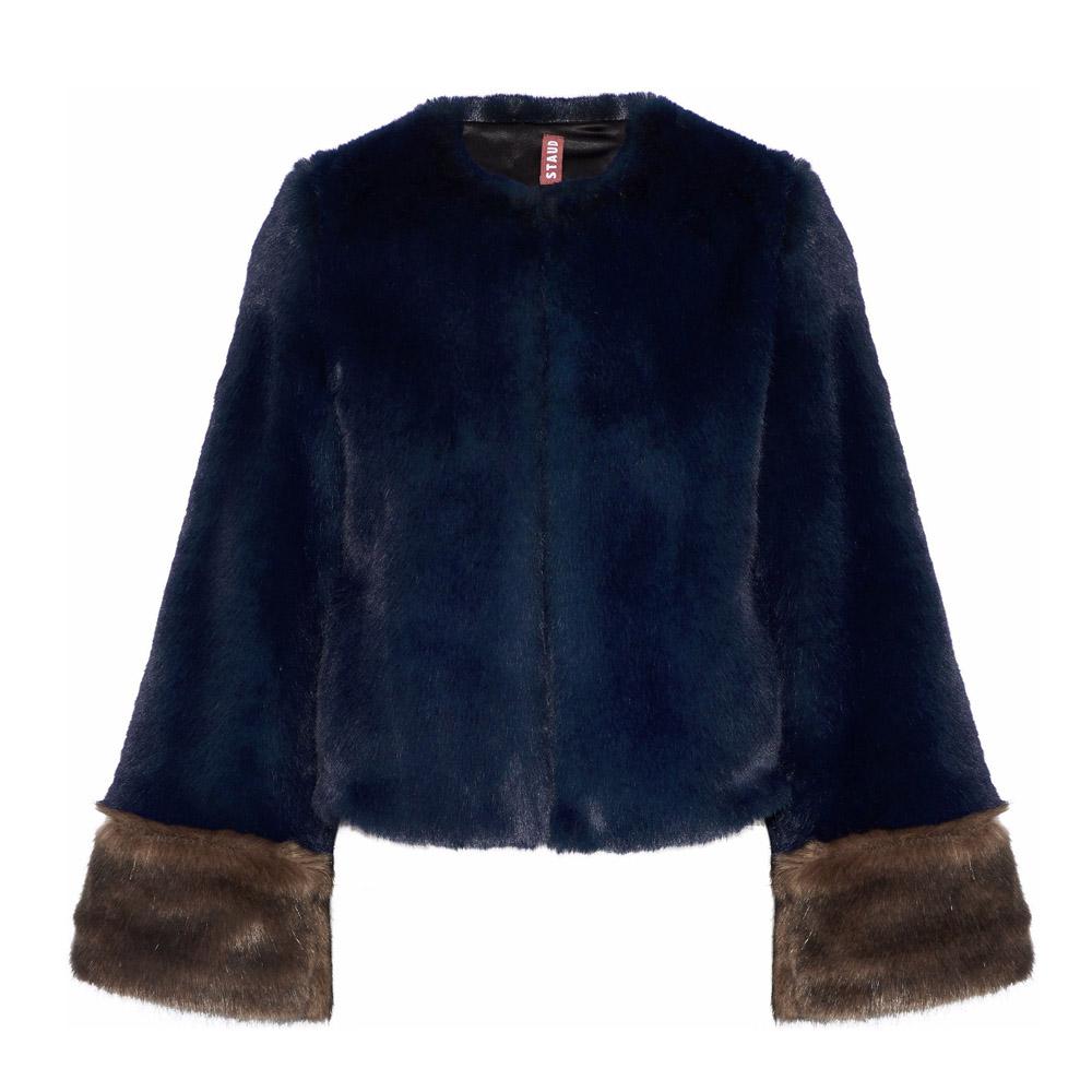 Staud faux fur jacket