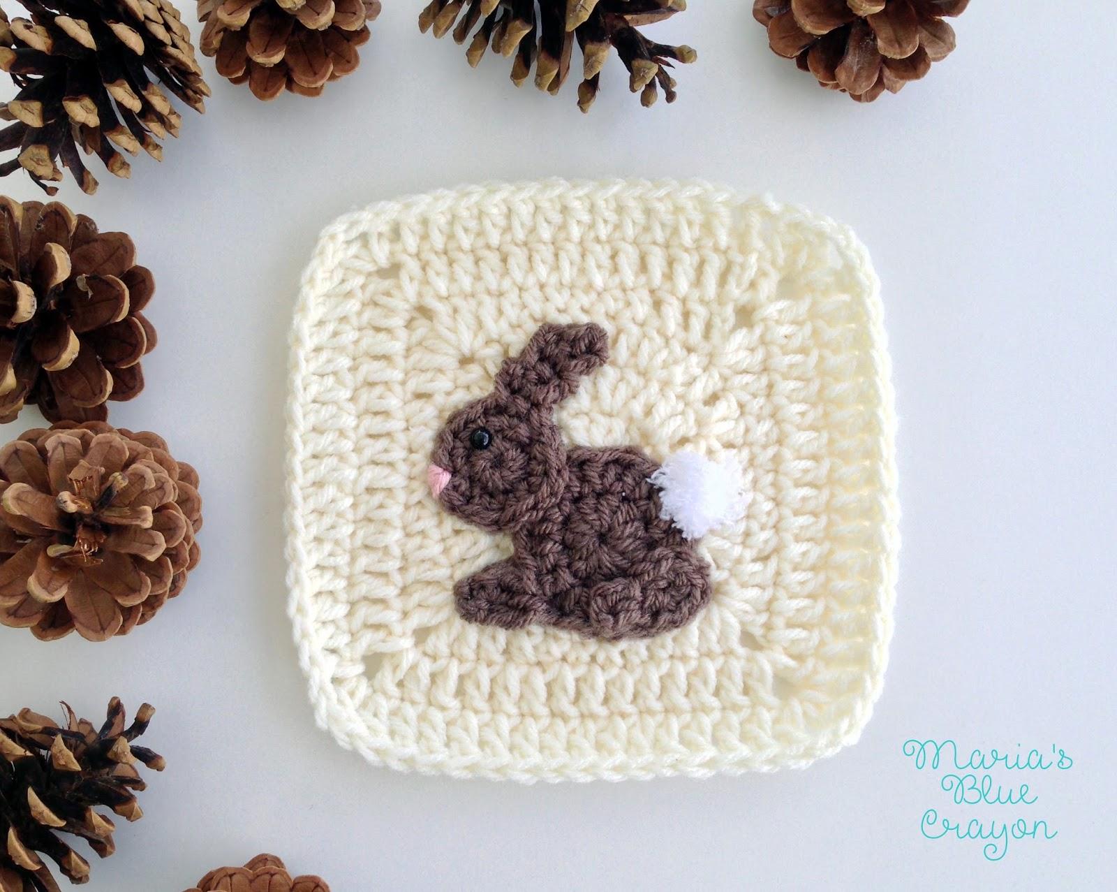Woodland Bunny Granny Square Woodland Afghan Series Free Crochet