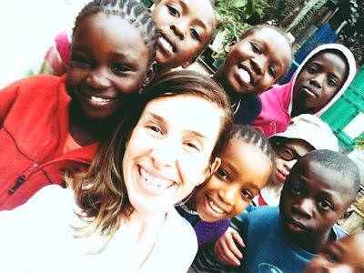 Elisa en el centro de acogida de Kenia