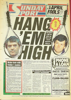 Back page of an old Sunday Sport newspaper from 5th April 87