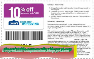 Free Printable Lowes Coupons