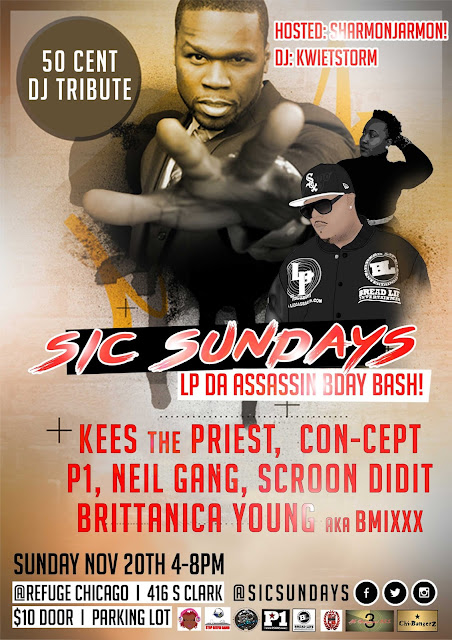 DJ P1, blok club dj, p1, 50 cent, 50 cent mix, 50 cent tribute, 50 cent remix, Sic Sundays, hiphop event, chicago hiphop, chicago hiphop blog, chicago event, singles,
