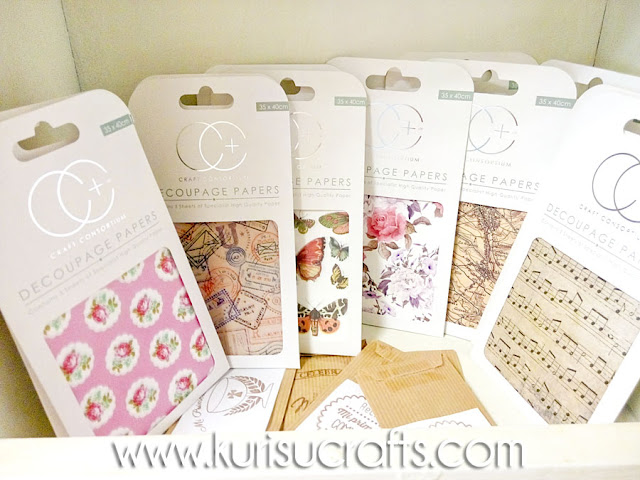 Papel para decoupage en Kurisu Crafts