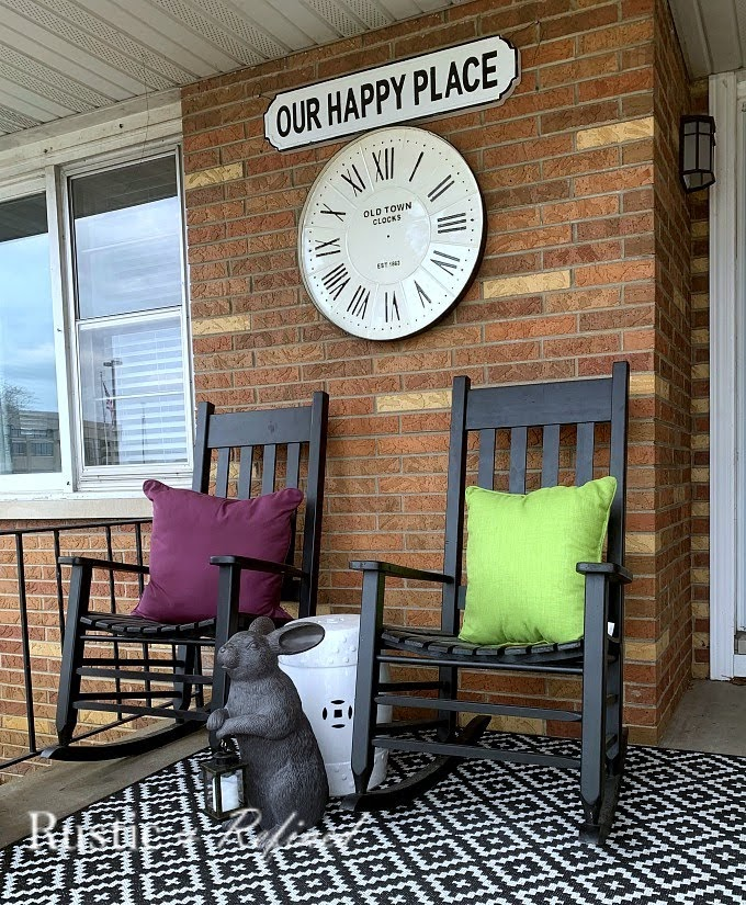 Gorgeous front porch decorated for Spring