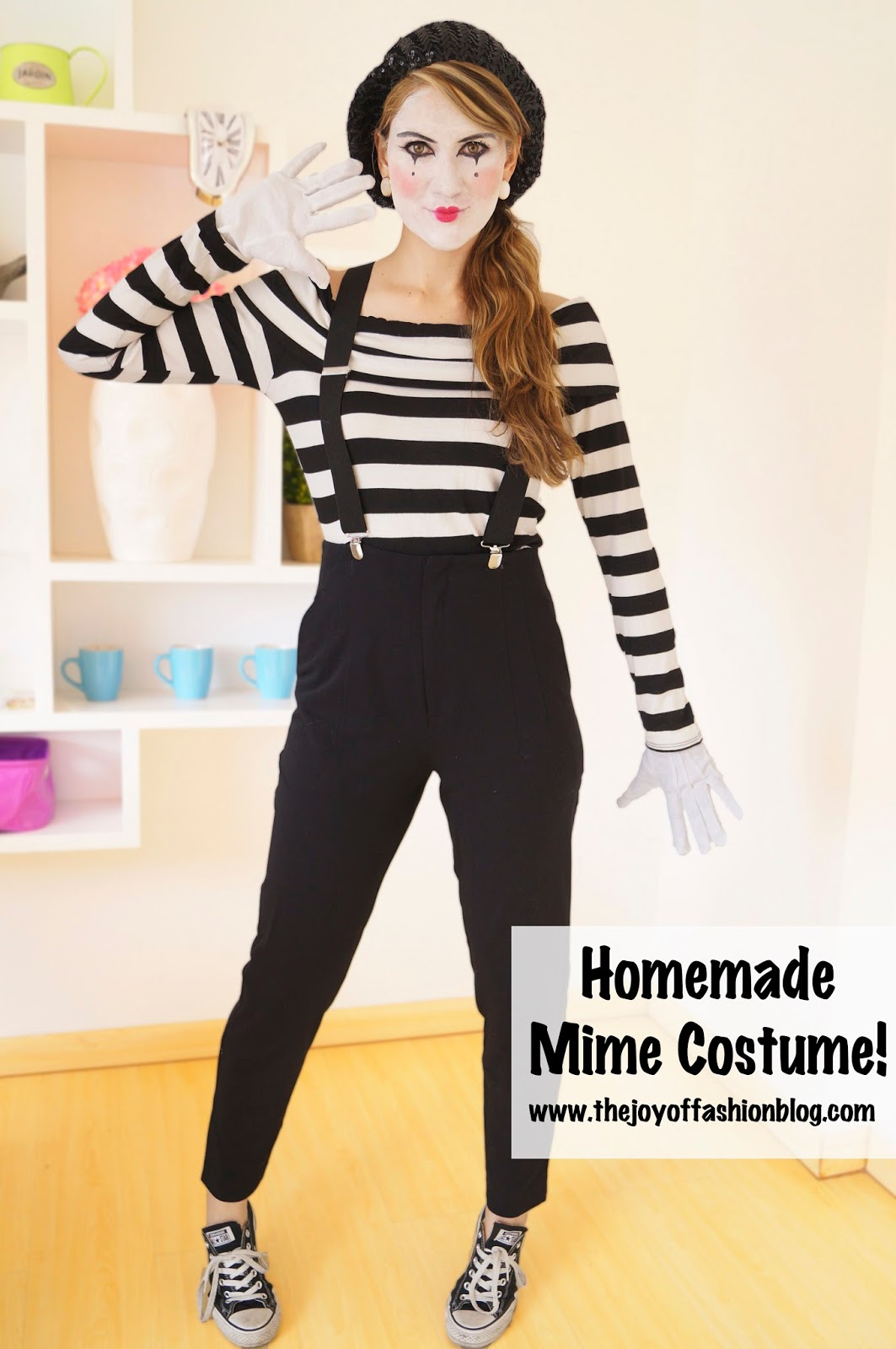 the joy of fashion halloween last minute homemade mime. Black Bedroom Furniture Sets. Home Design Ideas