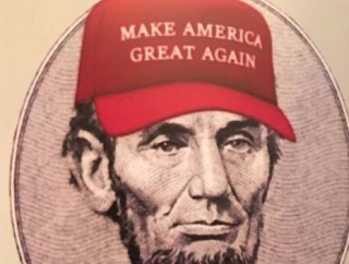 DUMB AS A BRICK: Chelsea Clinton Wonders If Lincoln In A #MAGA Hat Is Photoshopped