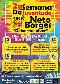 Semana da Juventude Neto Borges tem início neste domingo (12), em Picuí