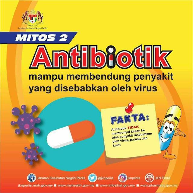 Mitos batuk berpanjangan perlu ambil antibiotik