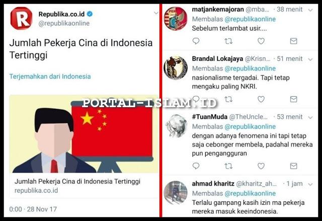 Jumlah Pekerja Cina di Indonesia Tertinggi, Netizen: Nasionalisme tergadai Tapi tetap mengaku paling NKRI