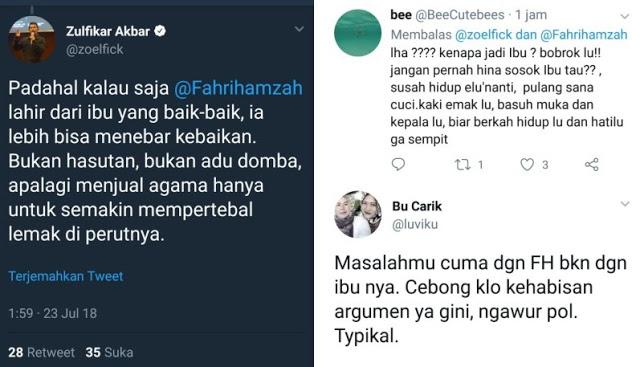 Dulu Hina UAS Sampai Dipecat, Sekarang Pendukung Jokowi @zoelfick 'Seret-seret' Ibunda Fahri